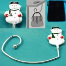 Snow Man Snowman Purse Handbag Caddy Holder Hanger