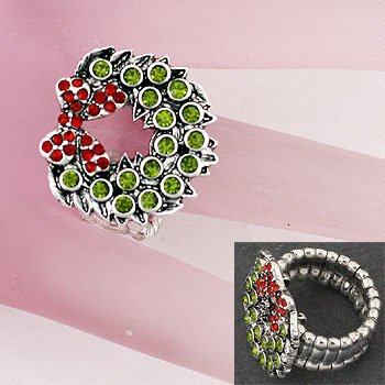 Christmas Wreath Ring