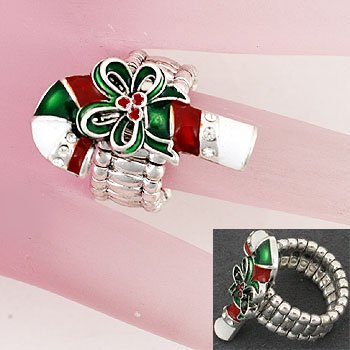 Christmas Candy Cane Ring