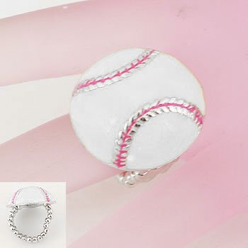 Baseball Base Ball Silver Tone Ring