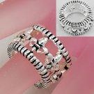 Textured French Fleur De Lis Silver Tone Ring