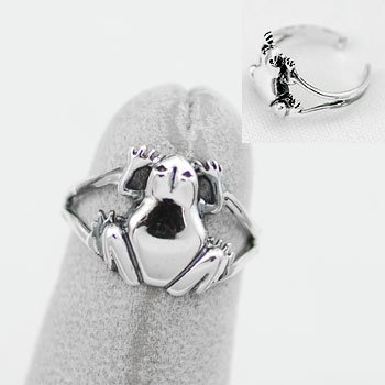 Frog Sterling Silver Toe Ring