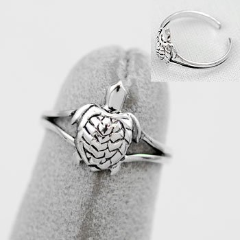 Turtle Tortoise Sterling Silver Toe Ring