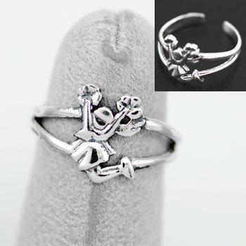 Cheerleader Sterling Silver Toe Ring