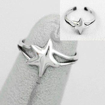 Starfish Star Fish Sterling Silver Toe Ring