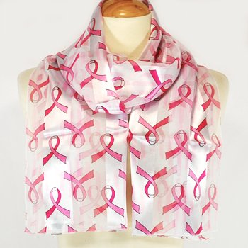 Pink Ribbon Breast Cancer Awareness Scarf