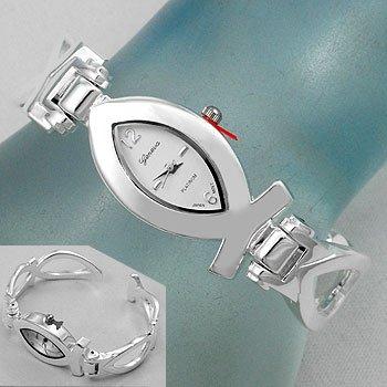Religious Jesus Fish Bracelet Watch