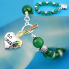 Go Green Earth Day Heart Love Bracelet