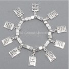 Religious Ten Commandments Bible Charm Bracelet