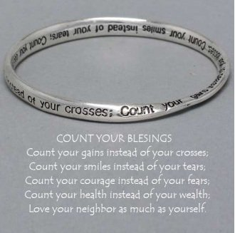 Religious Count Your Blessings Mobius Bangle Bracelet