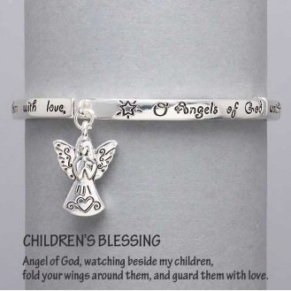 Religious Childrens Blessing Guardian Angel Charm Bracelet
