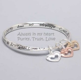 Religious Always in My Heart Charm Bracelet