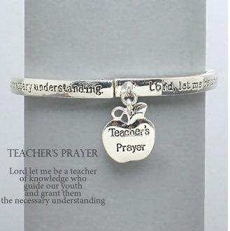 Religious Teachers Prayer Charm Bracelet