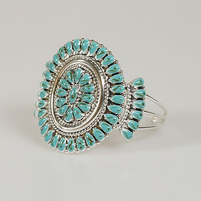 Blue Western Bangle Bracelet