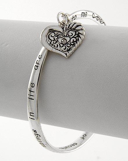 Love Heart Grandma Grandmas Prayer Bracelet