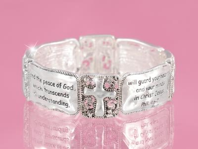 Religious Do Not Be Anxious Cross Philippians 4:6 Bracelet