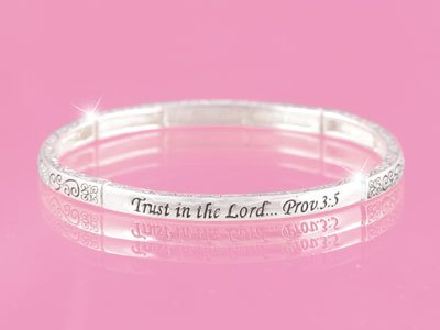Proverbs 3:5 Trust in the Lord Religious Stackable Bracelet