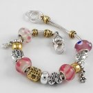 Smile Dream Soul Love Heart Glass Bracelet