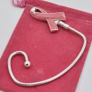 Pink Ribbon Breast Cancer Awareness Handbag Purse Hook Caddy Holder