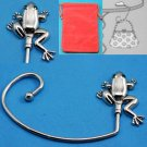 Frog Silver Tone Handbag Purse Hook Caddy Holder