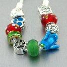 World Peace Bird Heart Love Glass Bracelet