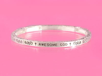 Awesome God Religious Stackable Bracelet