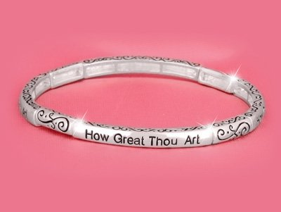 How Great Thou Art Religious Stackable Bracelet