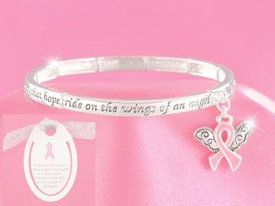 Pink Ribbon Breast Cancer Awareness Bracelet