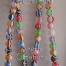 Glass Beads Necklace -- Hand Assembled