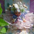 Vintage Restyled Flower Doll 1974 Kewpie Doll