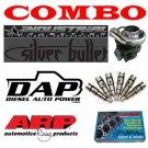 Dodge Diesel Combo 98-02 250HP Injectors, Head Studs, Silver 66 Turbo, Downpipe