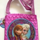 Disney Frozen purse w/ Elsa & Anna in quilted satin  NEW
