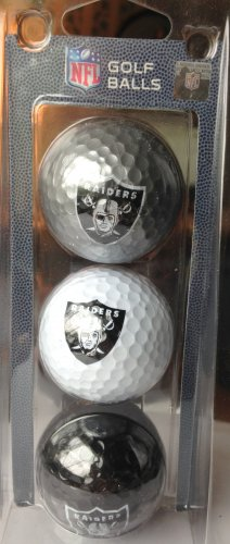 Oakland Raiders gold balls  Approved NFL 3 pack  NEW in box