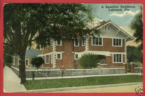 LAKELAND FL FLORIDA RESIDENCE HOUSE 1917 POSTCARD
