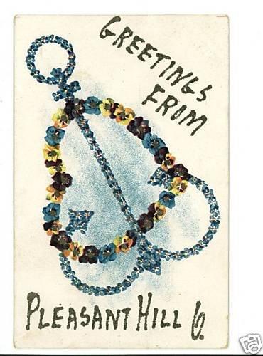 PLEASANT HILL OH OHIO GREETINGS FR ANCHOR 1907 POSTCARD