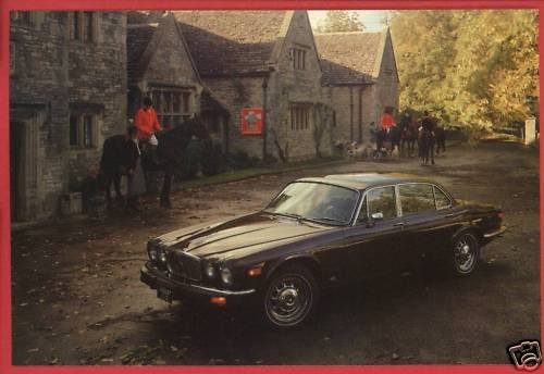 JAGUAR XJ  1977 BRITISH LEYLAND CAR  POSTCARD