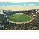 Cambridge MA Mass  Harvard Football Stadium Postcard