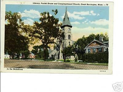 Great Barrington Massachusetts Berkshires 1947 Postcard