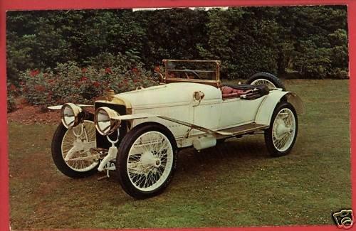 1912 HISPANO-SUIZA ALFONSO CAR HELM LUCKEY OH POSTCARD