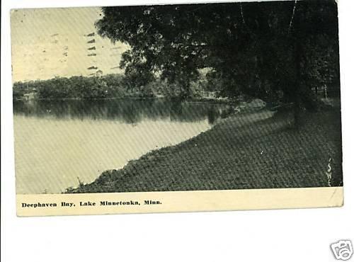 LAKE MINNETONKA MN DEEPHAVEN BAY 1913 POSTCARD