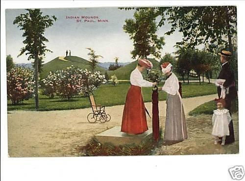 ST. PAUL MINNESOTA INDIAN MOUNDS WHEELCHAIR VINTAGE