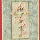 HAPPY EASTER CROSS FLOWERS  POSTCARD