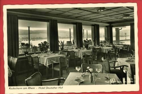 RPPC RUDESHEIM AM RHEIN - HOTEL DEUTSCHER HOF  GERMANY