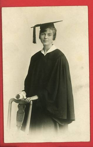RPPC WOMAN GRADUATE CAP & GOWN DIPLOMA NORRISTOWN PA