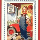 BAMFORTH TOURING COMIC MECHANIC CAR GARAGE DOG POSTCARD