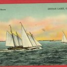 INDIAN LAKE OHIO OH SAILBOAT RACES  POSTCARD