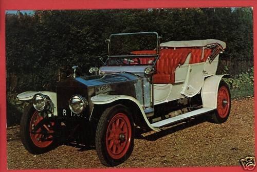 1909 ROLLS-ROYCE SILVER CAR HELM LUCKEY OH POSTCARD