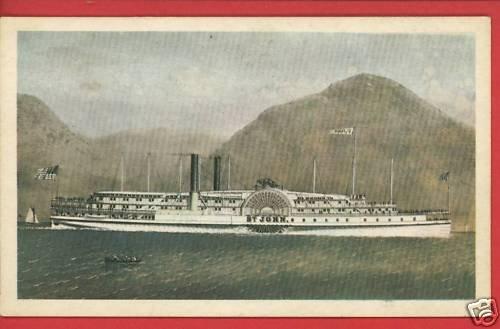ST JOHN STEAMBOAT SHIP BOAT MARINERS MUSEUM CARD