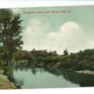 GIBSON CITY IL ILLINOIS SANGAMON RIVER  LOWRY POSTCARD