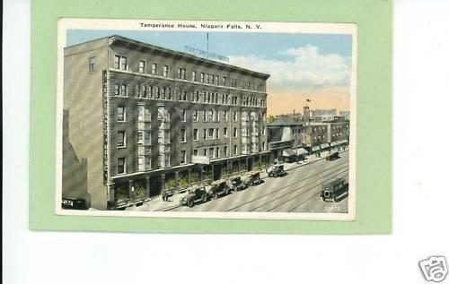 NIAGARA FALLS NEW YORK TEMPERANCE HOUSE 1925 POSTCARD